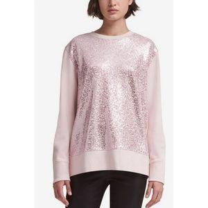 🆕️DKNY Blush Sequined Sweatshirt